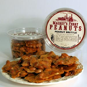 Old-Fashioned Peanut Brittle Plate View