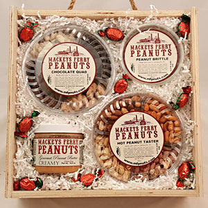 farmhouse peanut variety in wooden box