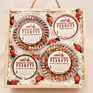 Mackeys Special Peanut Variety in Wooden Box
